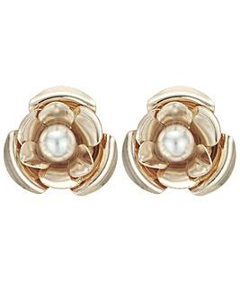 Pearl Flower Stud Earring