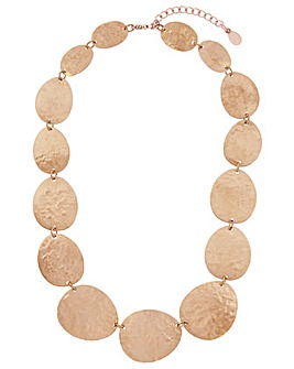 Accessorize Hammered Discs Necklace