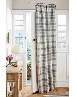 Quilted Thermal Tartan Door Curtain