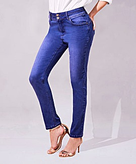 Blue Shape & Sculpt Straight Jeans Long