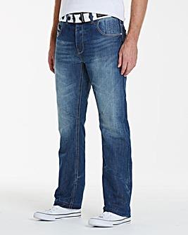 Crosshatch Stonewash Hornet Jeans 31in