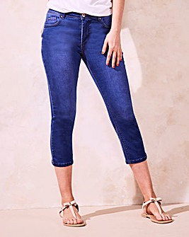 Bright Blue Shape & Sculpt Crop Jeans