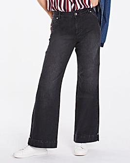 Pixie Wide Leg Jeans Black Regular