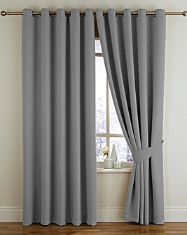 Woven Blackout Eyelet Curtains