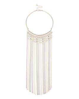 Lipsy Chain Tassel Collar Necklace