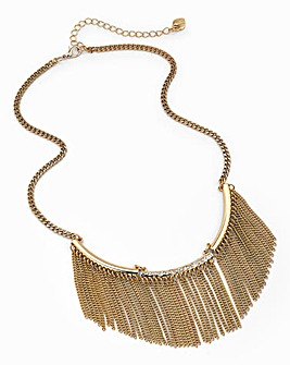 Lipsy Fringed Collar Necklace