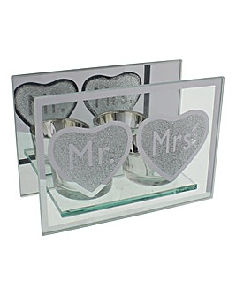 Mr and Mrs Tealight Holder