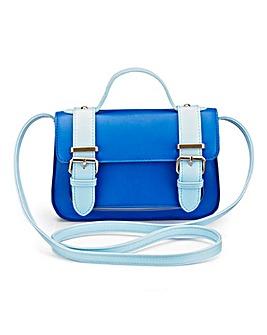 Colour-Block Satchel Bag