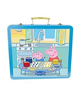 PEPPA PIG Art Tin Case 60pc Creative Kit