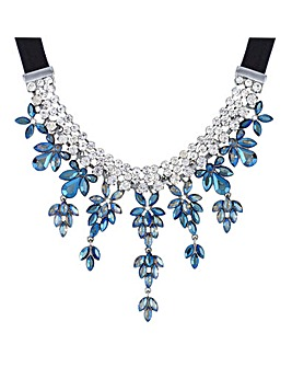 Mood Crystal Floral Droplet Necklace