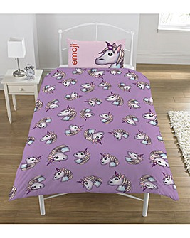 Emoji Unicorn Rotary Duvet Cover Set