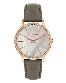 LK Bennett Grey Strap Watch