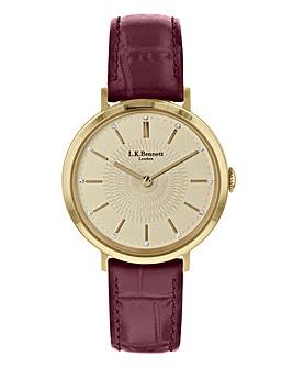 LK Bennett Burgundy Strap Ladies Watch