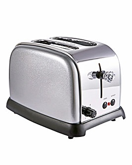 JDW Diamond Silver 2 Slice Toaster