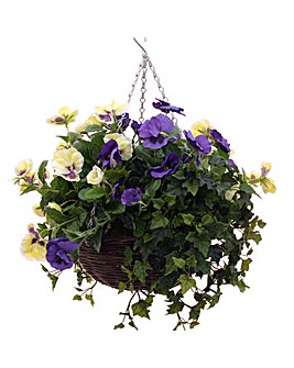 Artificial Plant Pansy Basket