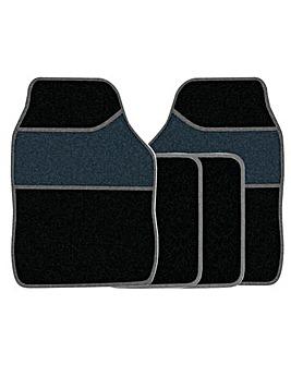 4 Pce Carpet Mat Set
