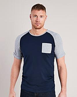 Flintoff By Jacamo Raglan T-Shirt Long
