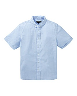 Flintoff By Jacamo Seersucker Shirt Reg