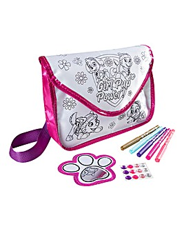 Paw Patrol Girls Colour Your Own Bag