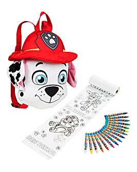 Paw Patrol Backpack & Colouring Set