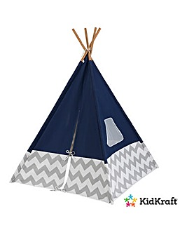 KidKraft Play Teepee Navy Chevron
