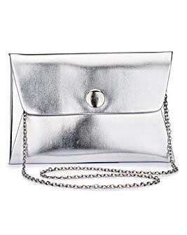 Maddie Silver Clutch Bag