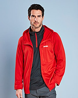 Snowdonia Hooded Poly Grid Fleece Jacket