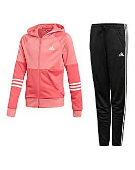 adidas Youth Girls Hooded Tracksuit