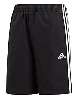 adidas Youth Boys 3 Stripe Woven Short