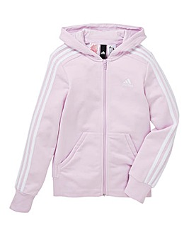 adidas Youth Girls Three Stripe Hoodie