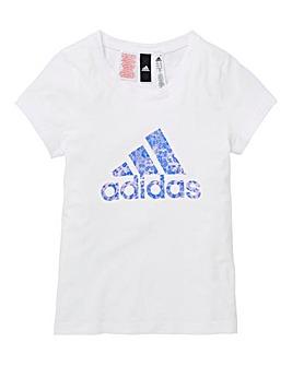 adidas Youth Girls Logo Tee