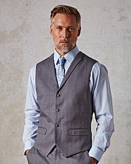 W&B London Check Waistcoat Regular