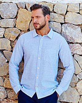WILLIAMS & BROWN Linen Mix Stripe Shirt