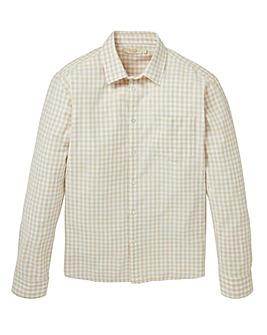 WILLIAMS & BROWN Linen Mix Check Shirt