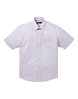 W&B London Lilac S/S Formal Shirt L
