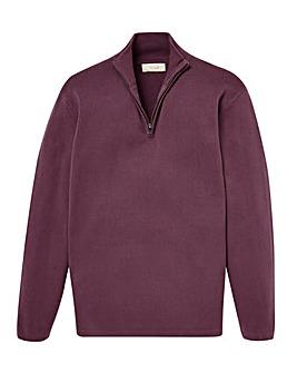 WILLIAMS & BROWN Zip Neck Sweatshirt