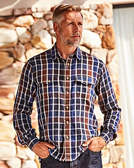 WILLIAMS & BROWN Long Sleeve Check Shirt