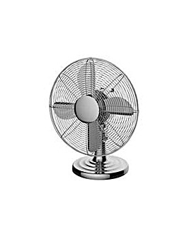 Challenge Chrome Desk Fan - 12 Inch.
