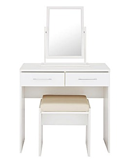 Riga Gloss Dressing Table with Stool
