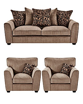 Swish Three Seater plus Two Chairs