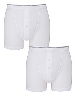 Jockey Pack of 2 White Boxers