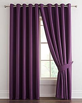 Alice Waffle Plain Dye Eyelet Curtains