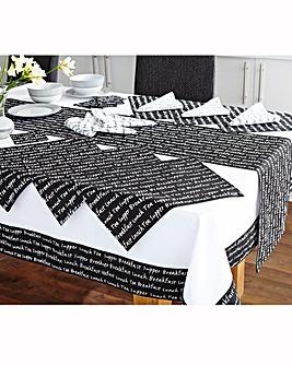 20 Piece Kitchen Script Dining Set