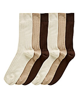Capsule Pack of 6 No Elastic Socks