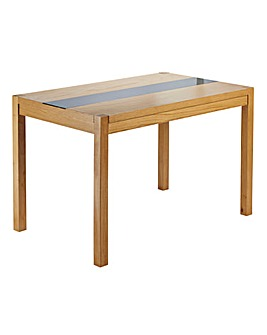 Oakham Glass Panel Large Rectangle Table