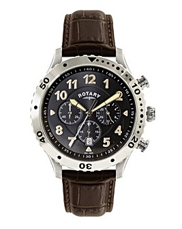 Rotary Gents Brown Strap Watch