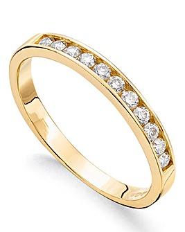 9ct Gold Moissanite Eternity Ring