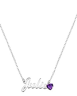 Personalised Birthstone Name Necklace
