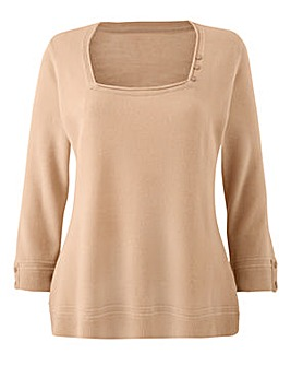 Supersoft Jumper with Button Detail