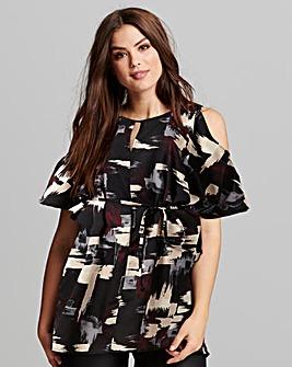 AX Paris Tie Waist Print Shirt